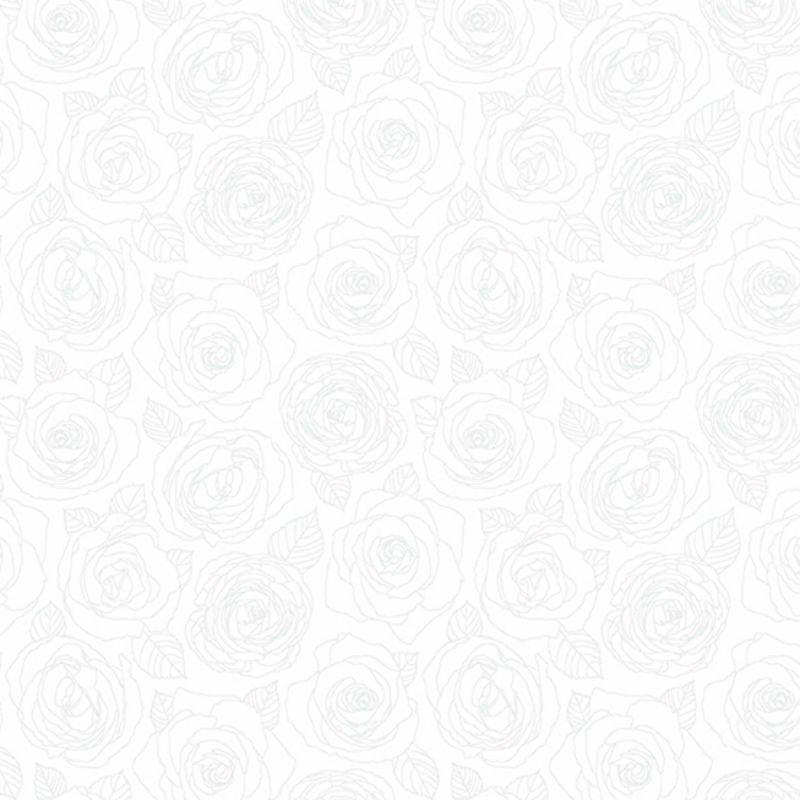 Mosaic - Rose Outline Snow 8882-WW