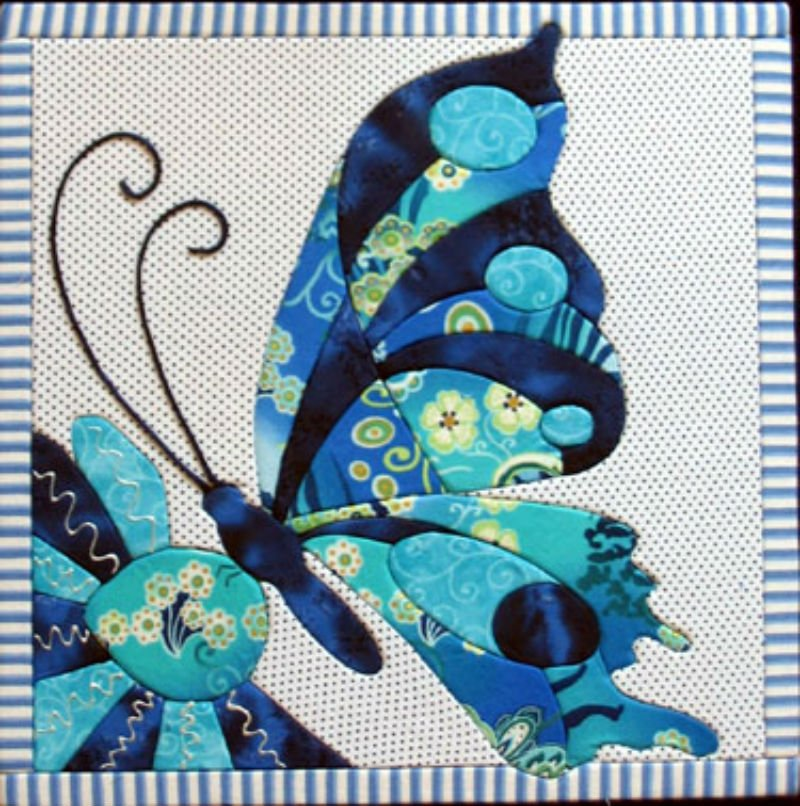 Butterfly - No Sew Quilt Wall Hanging 12 x 12