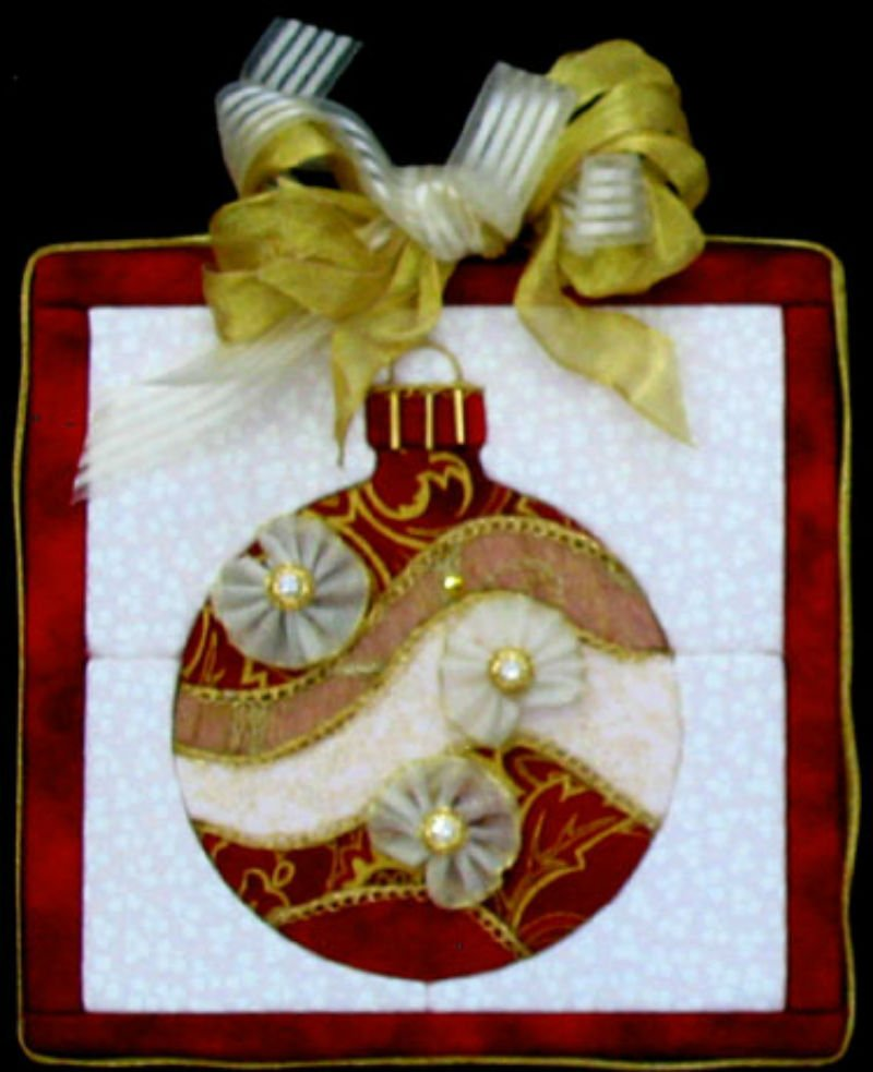 Christmas Bulb - No Sew Quilt Wall Hanging 6 x 6