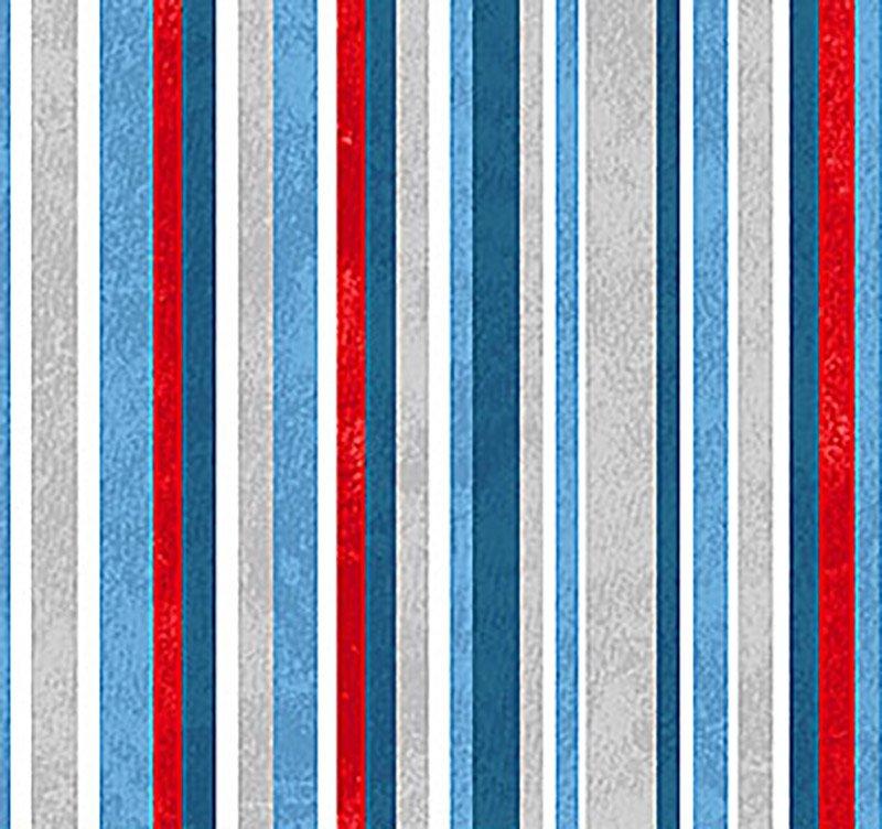 SALE Below Zero Flannel - Stripe Blue F22456-10