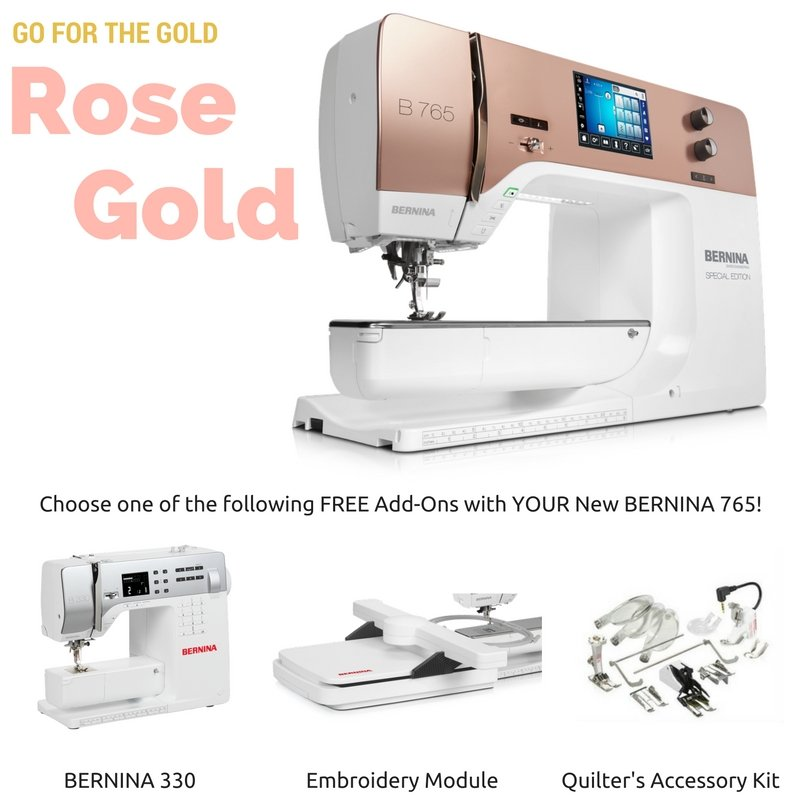 BERNINA's 40 Special Edition Rose Gold Interesting Rose Sewing Machine