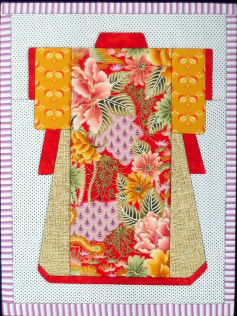 Kimono - No Sew Quilt Wall Hanging Large - 12 x 16
