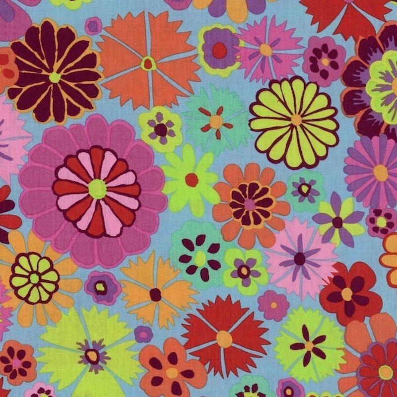 Kaffe Fassett Artisan - Folk Flower Pink PWKF007-PinkX