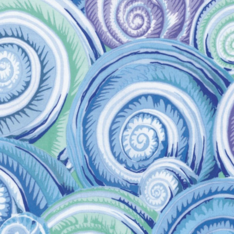 Kaffe Fassett Collective Fall 2016 - Spiral Shells Sky Blye PWPJ073-SkyBl