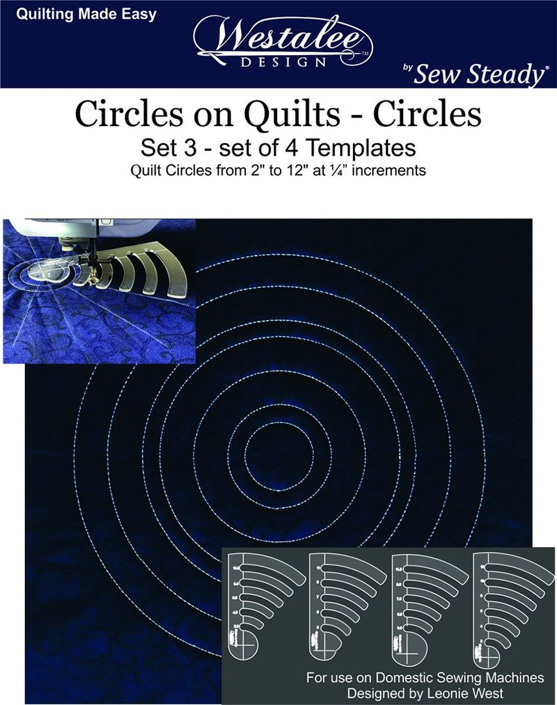 Circles on Quilts Template Set #3 - Low Shank