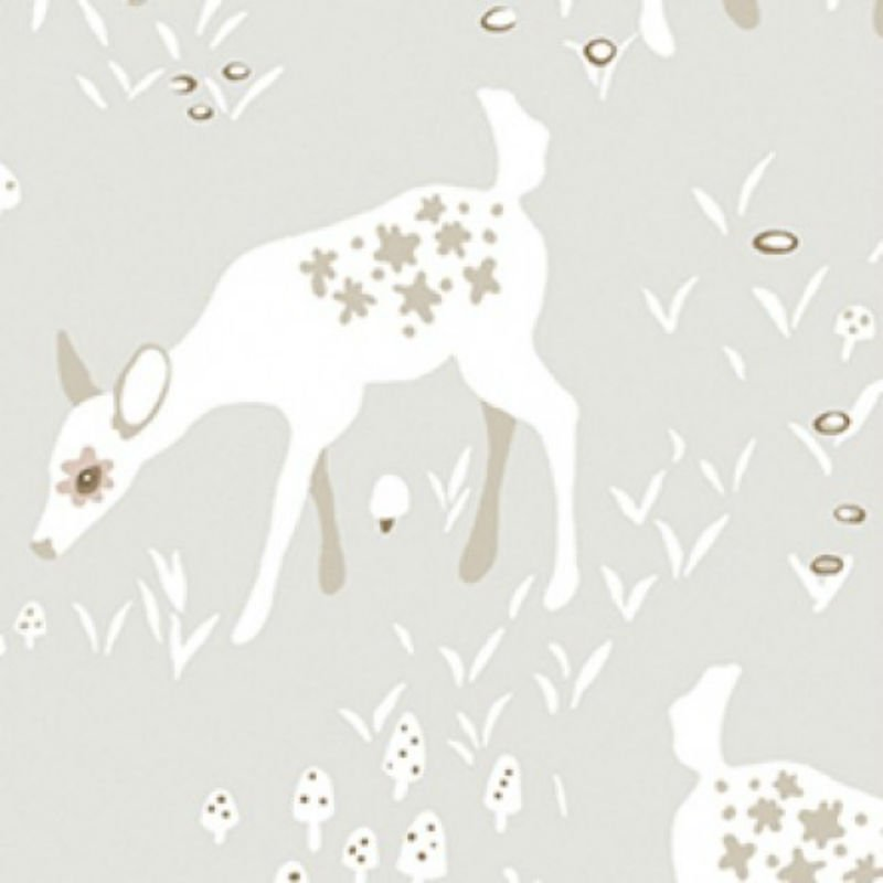 SALE Woodland Gathering Organic -  Deer Feeding Y2066-62 Taupe
