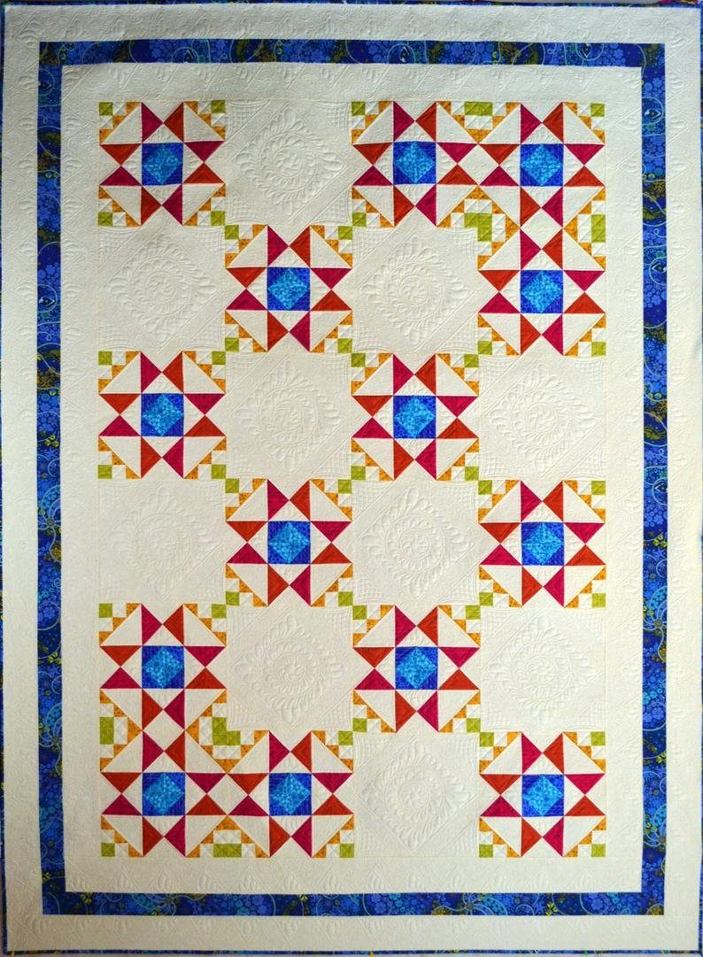 Be Dazzled Quilt Pattern by Michele Hiatt of Sew on the Go