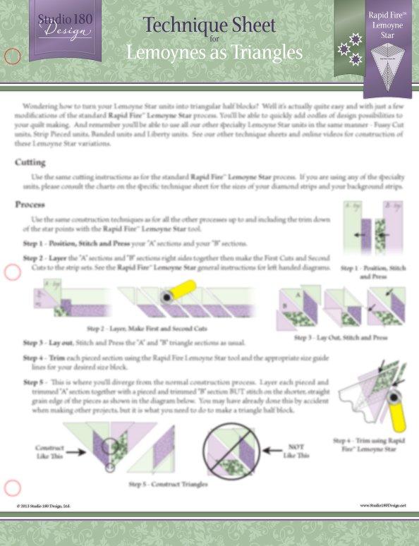 Lemoynes as Triangles Technique Sheet