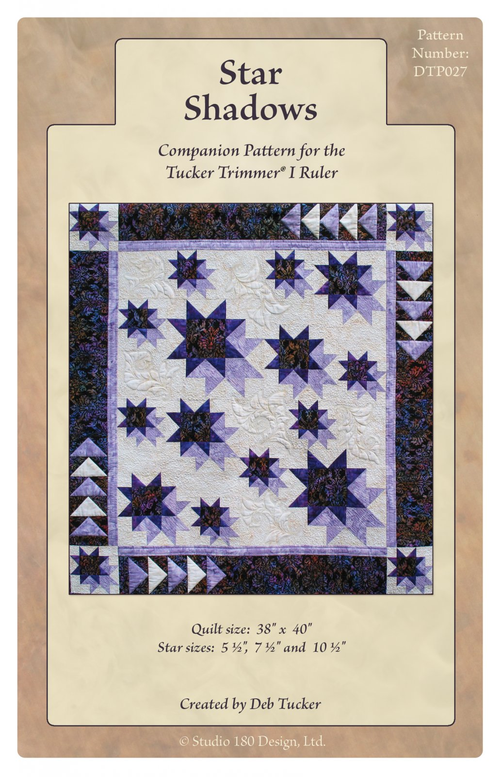 Star Shadows Quilt Pattern - Deb Tucker - Studio 180 Design