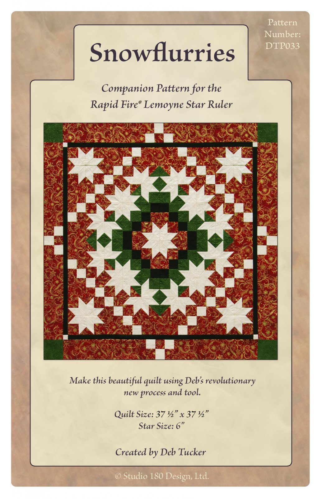 Snowflurries Quilt Pattern - Studio 180 Design- Deb Tucker
