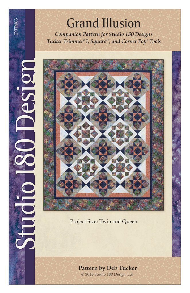 Grand Illusion Quilt Pattern - Studio 180 Design - Deb Tucker