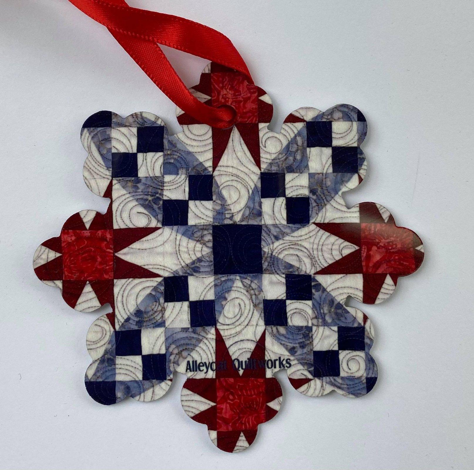Metal Ornament - Galaxy - Snowflake