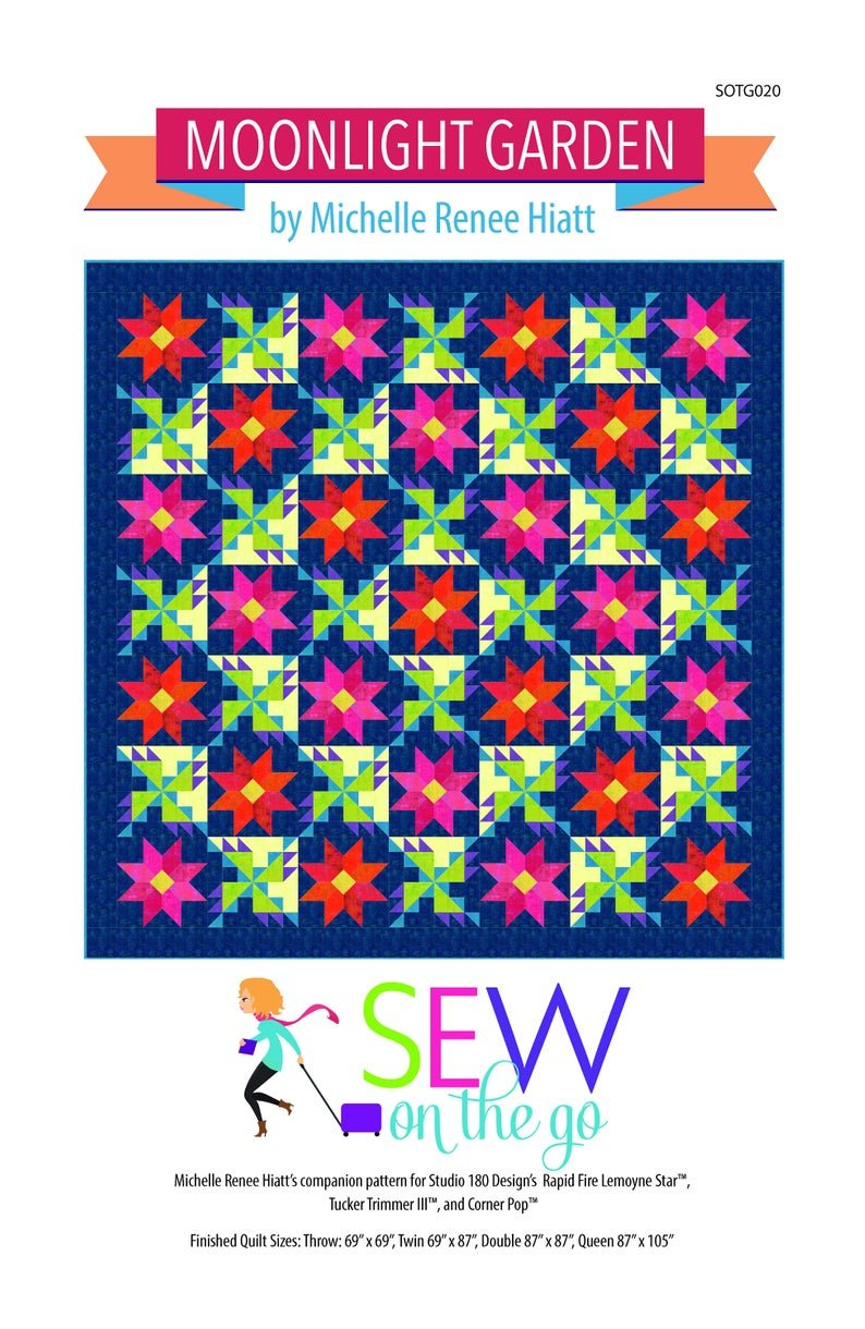 Moonlight Garden Quilt Pattern by MIchelle Hiatt of Sew on the Go