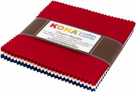 Kona Cotton solids - Charm Pack - Patriotic