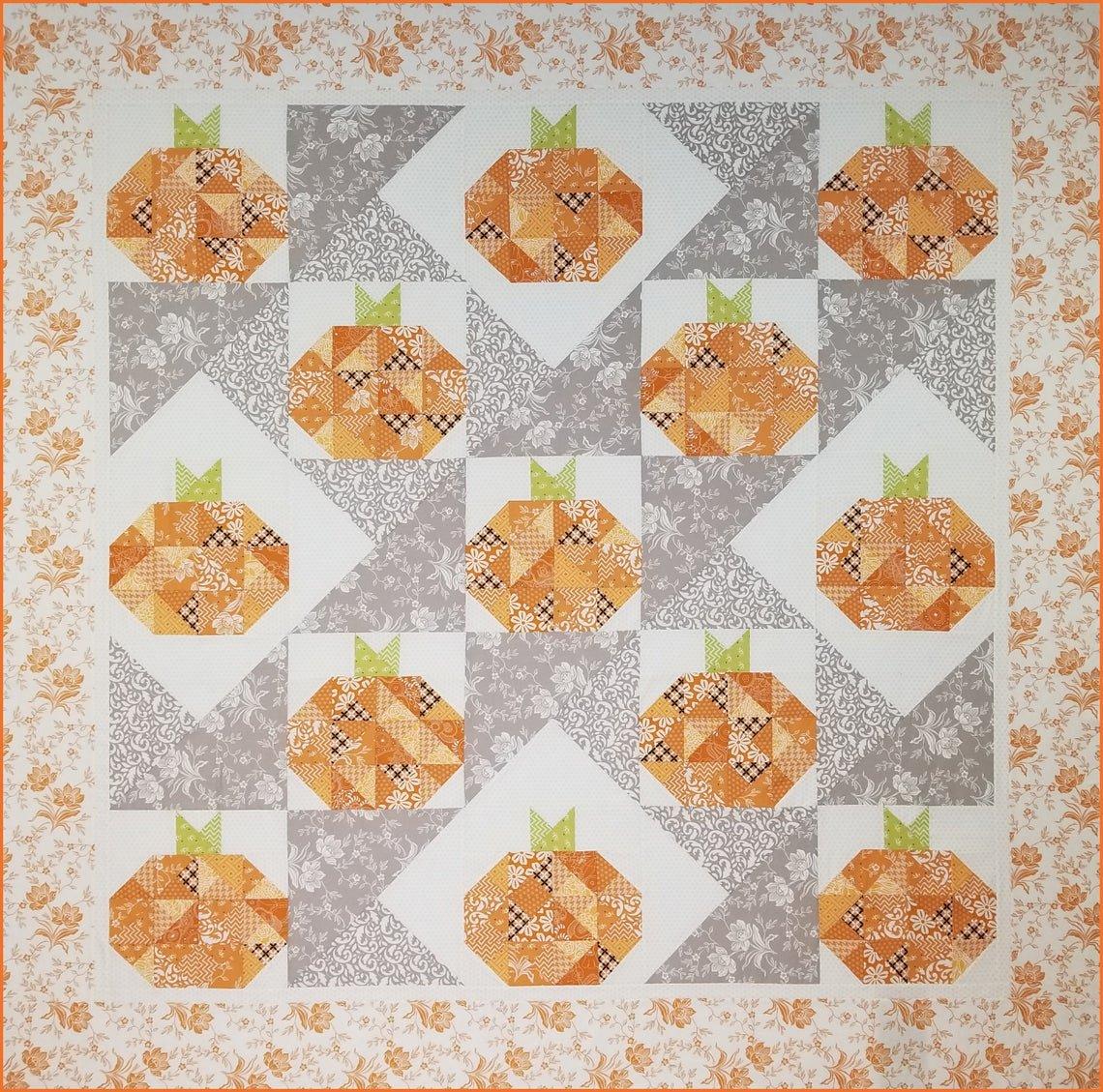 Turning Up Pumpkins Quilt Pattern - Michelle Hiatt - STASHBuster Series