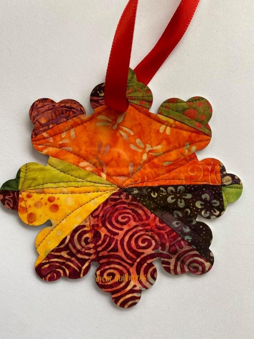 Metal Ornament - Batik Fabrics - Snowflake