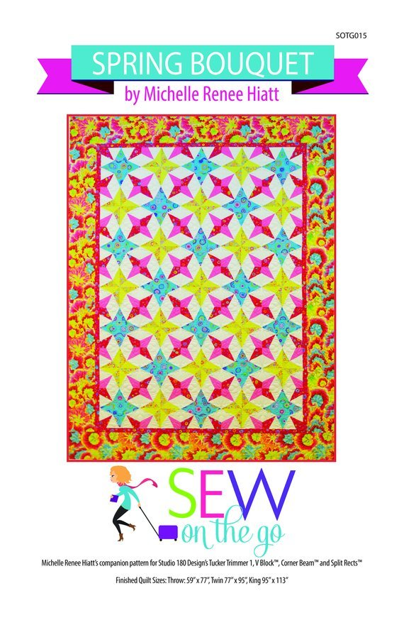 Spring Bouquet Quilt Pattern - Michelle Hiatt - Sew on the Go