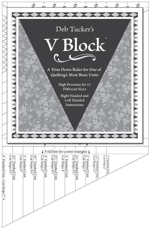V Block Ruler - Deb Tucker - Studio 180 Design