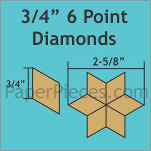 3/4 Hexagon 125pcs
