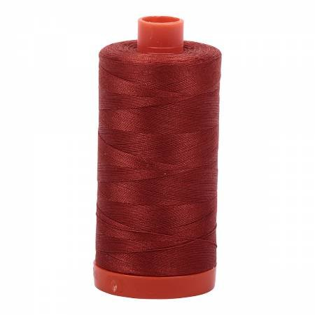 Aurifil Mako Cotton Thread Solid 50wt 1422yds Terracotta