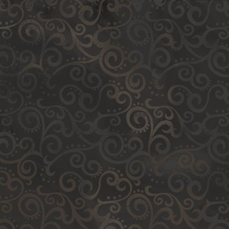 Quilting Treasures108 wide backing ombre scroll black