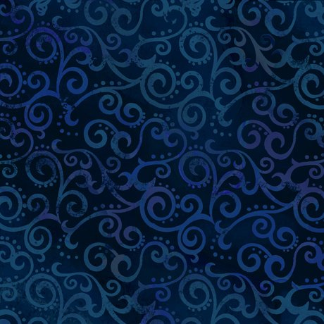 108 wide backing ombre scroll navy