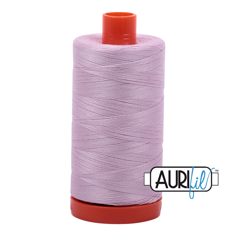 Aurifil Mako Cotton Thread Solid 50wt 1422yds Light Lilac