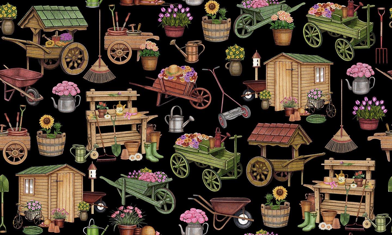 Garden Carts & Shed Black