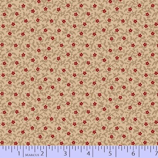Star Spangled Liberty cream/red flower