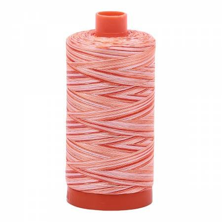 Aurifil Mako Cotton Thread Verigated 50wt 1422yds Mango Mist