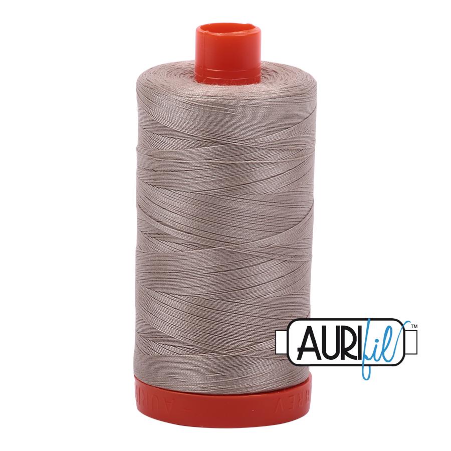 Aurifil Mako Cotton Thread Solid 50wt 1422yds Rope Beige