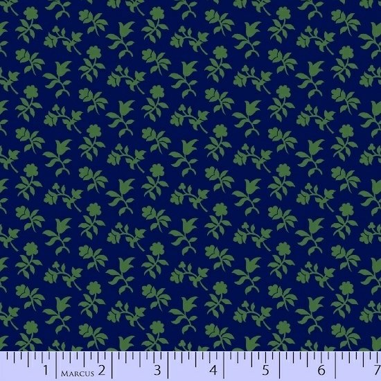 Bristle Creek Farmhouse navy blue /green flower