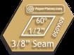 1/2  6-Point Diamond Acrylic Template