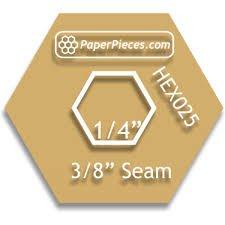 1/4 Hexagon Acrylic Template