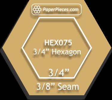 3/4 Hexagon Acrylic Template
