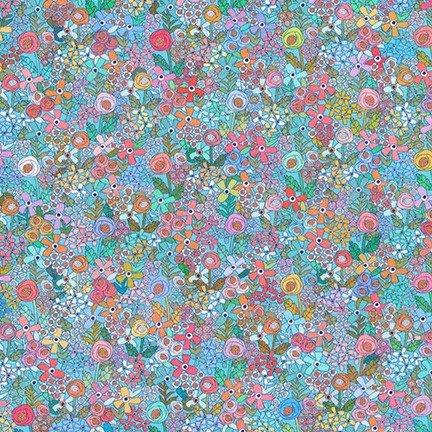 Happy Place Knit Floral Aqua