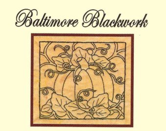 Baltimore Blackwork #1510 Pumpkin