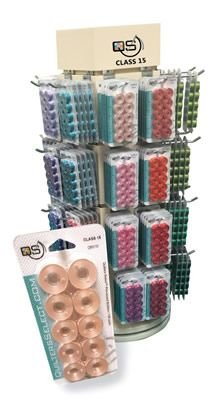 Quilters Select prewound bobbins Slate Grey class 15