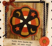 Candy Corn Candle Mat