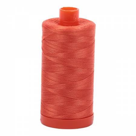 Aurifil Mako Cotton Thread Solid 50wt 1422yds Dusty Orange