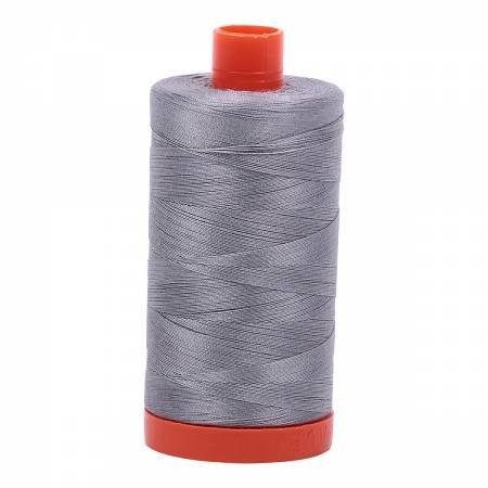 Aurifil Mako Cotton Thread Solid 50wt 1422yds Grey