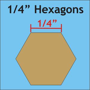 1/4 hexagon pieces