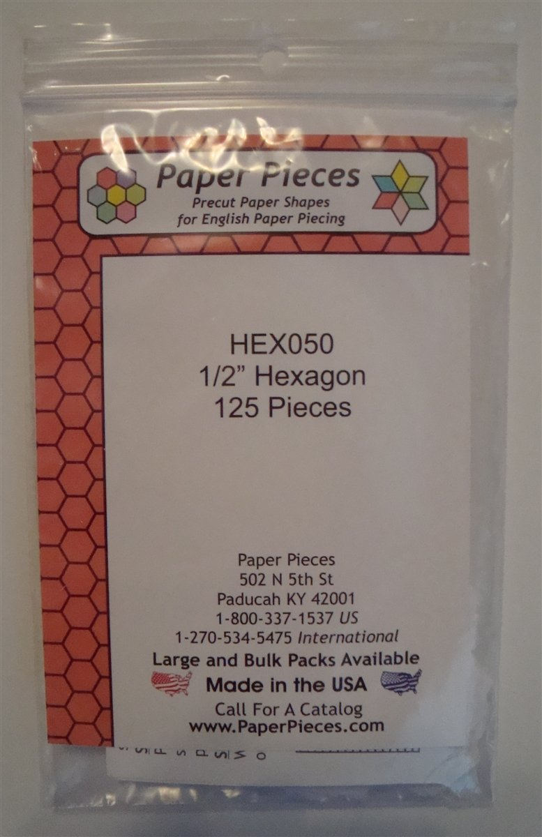 1/2 Hexagons 125 pieces
