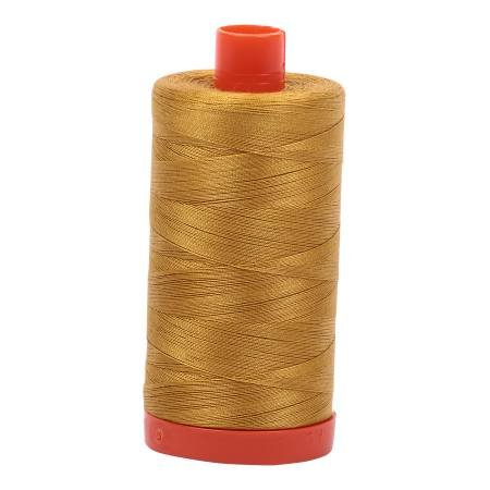 Aurifil Mako Cotton Thread Solid 50wt 1422yds Mustard
