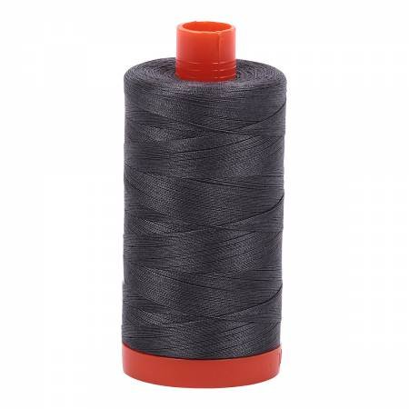 Aurifil Mako Cotton Thread Solid 50wt 1422yds Pewter