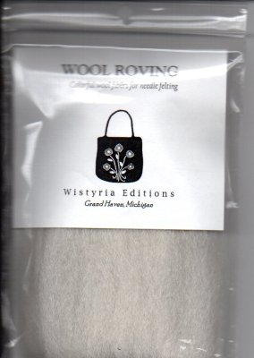 Wistyria Editions Wool Roving 12in Natural/White