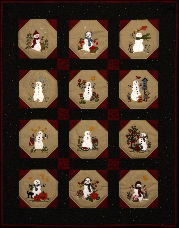Warm Fuzzy Snowmen Quilt