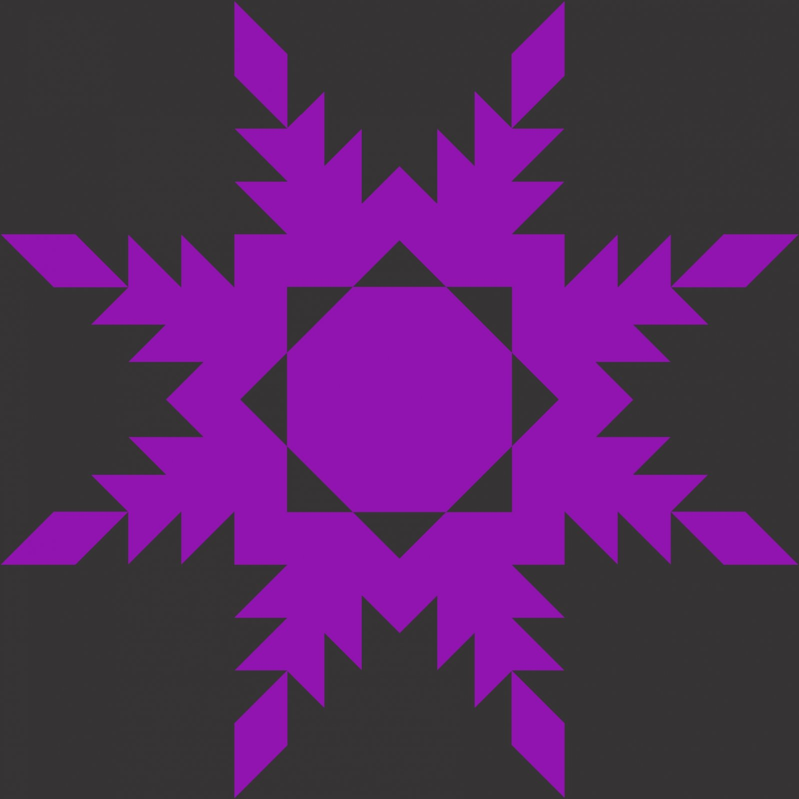 Feathered Star Template