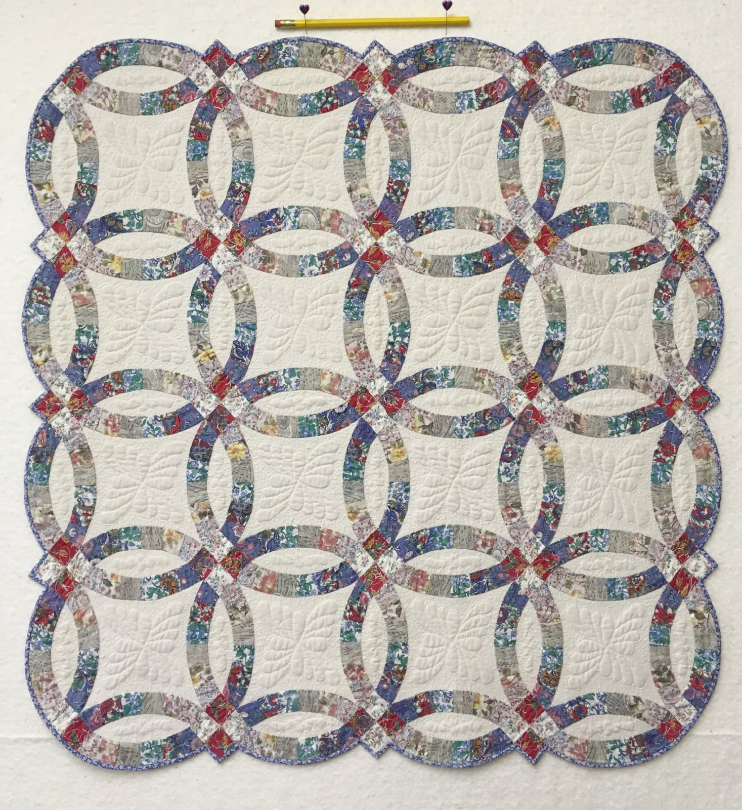 graphic about Free Printable Double Wedding Ring Quilt Pattern called Double Wedding ceremony Ring Template