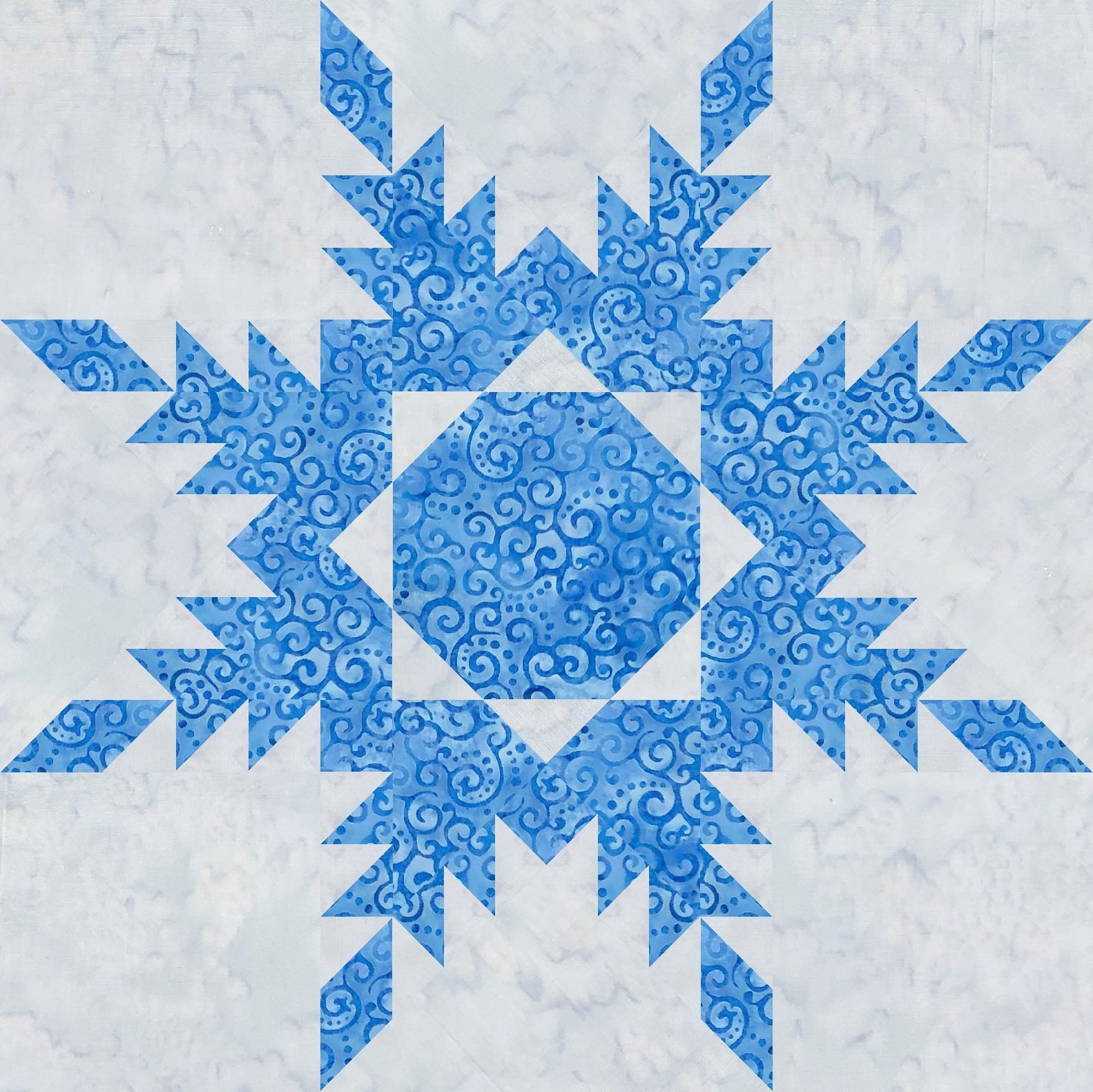 Feathered Star 18 kit Frozen Blue